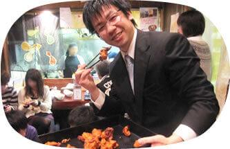 御代田裕介の鶏の唐揚げとビール